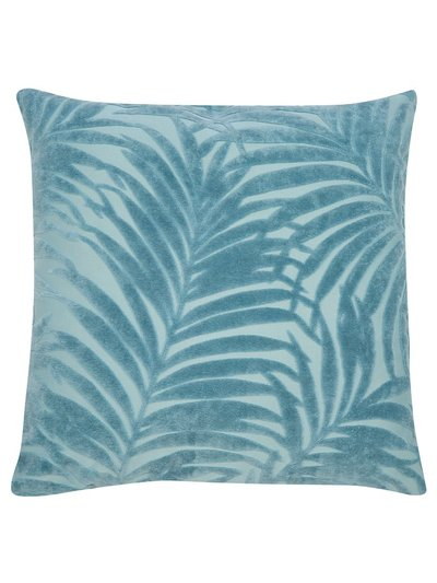 Palm leaf jacquard cushion