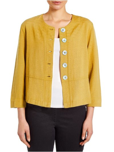 VIZ-A-VIZ shell button cropped jacket