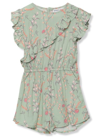 Minoti floral frill playsuit (9 mths - 8 yrs)