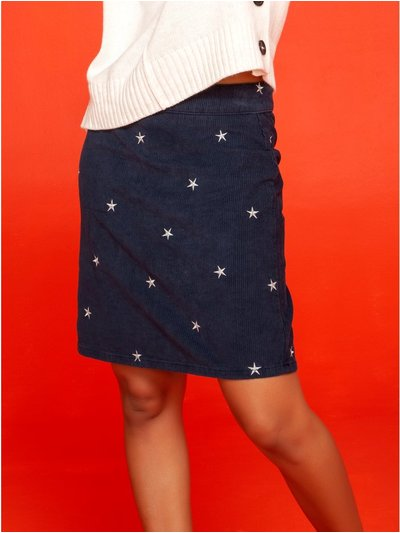Khost Clothing star embroidered cord skirt