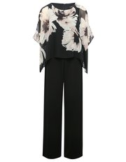 Floral chiffon layer jumpsuit