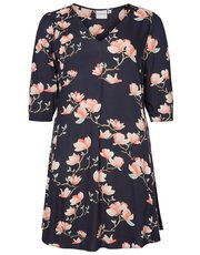 Junarose floral print swing dress