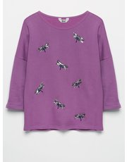 Khost Clothing Dragonfly sequin sweatshirt