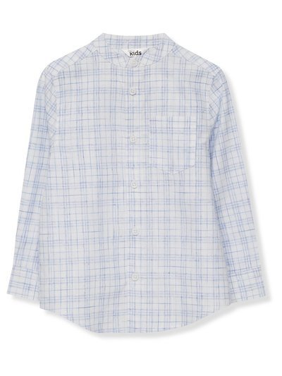 Grandad collar check shirt (3 - 13 yrs)
