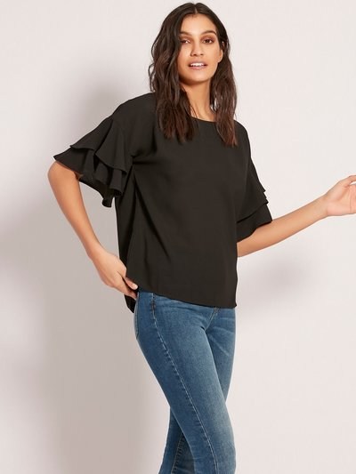 JDY ruffle sleeve top