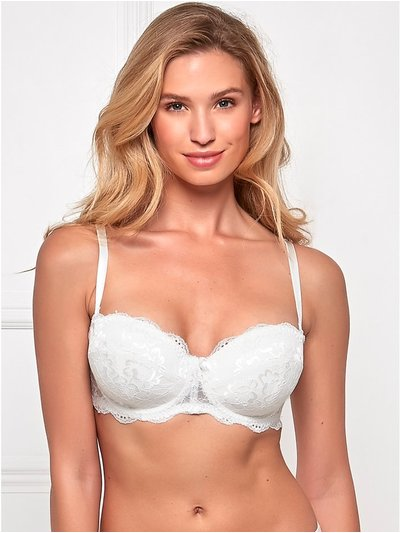 Padded lace underwire multiway bra