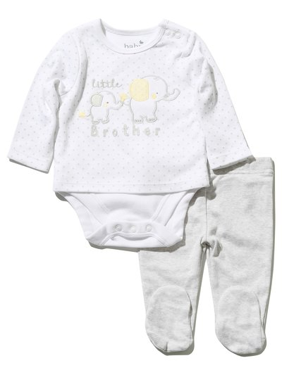 Little brother body and leggings set (Newborn - 1 yr)