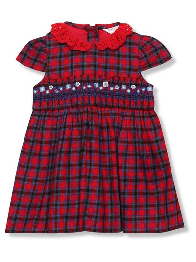 Tartan smock dress (Newborn - 24 mths)