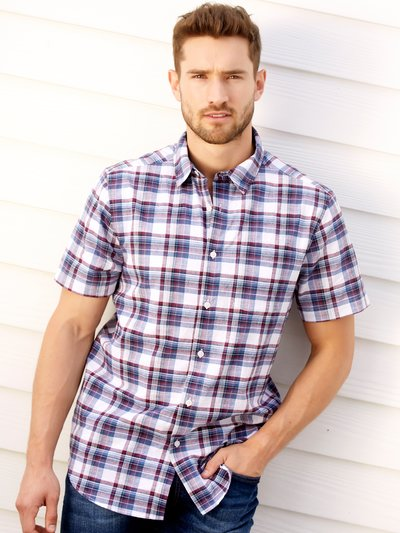 Country check short sleeve shirt