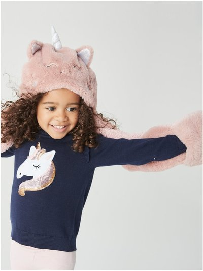 Unicorn hat scarf  (3-10yrs)