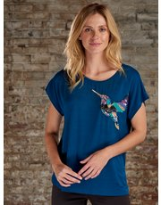 Sonder Studio sequin embellished hummingbird top