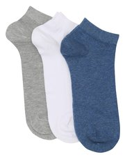 Cotton rich trainer socks three pack