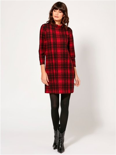 Check soft touch tunic dress