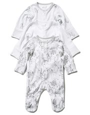 Animal sleepsuits three pack (Tinybaby-18mths)