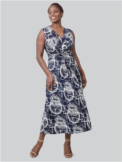 Izabel Curve abstract print maxi dress