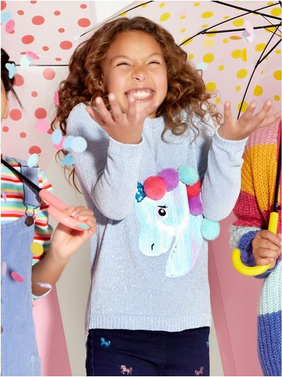 Pom pom unicorn jumper (3-12yrs)