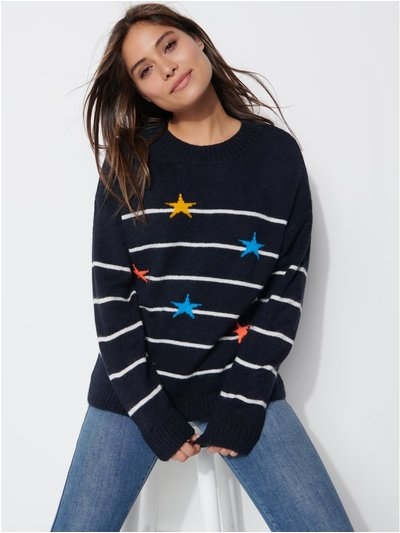 Khost clothing star striped jumper