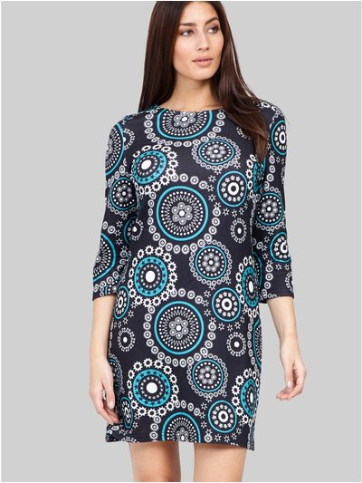 Izabel mosaic print tunic dress