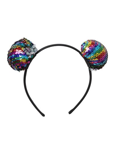 Multi Sequin Pom Alice Band