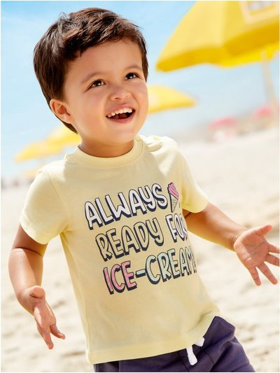 Ice cream slogan t-shirt (0mths-4yrs)