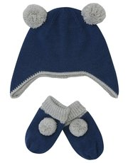 Trapper hat and mittens set (0-24mths)