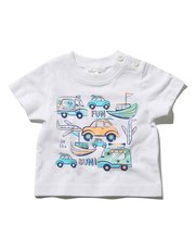 Sun slogan transport print t-shirt