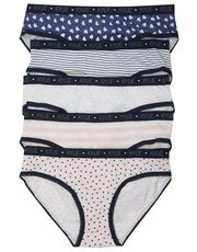 Heart and stripe briefs five pack