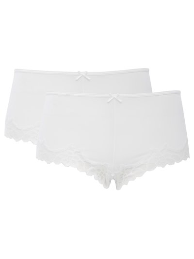 Lace trim boxer briefs two pack