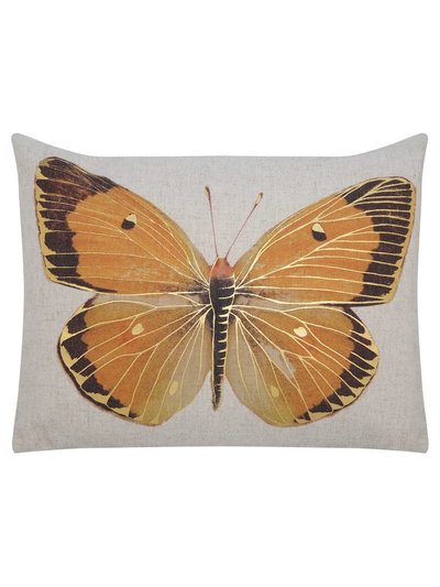 Butterfly print cushion
