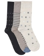 Gentle Grip pattern mix socks three pack
