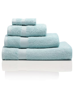 Mint Combed Cotton Towels