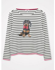 Khost clothing dachshund striped top
