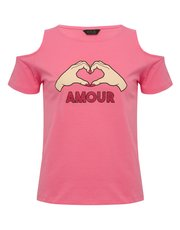 Teen amour cold shoulder t-shirt