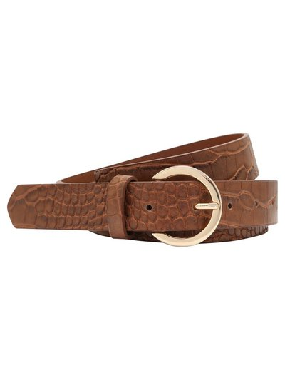 Tan croc effect belt