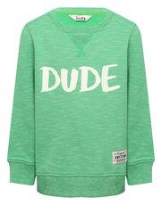 Dude slogan print sweater