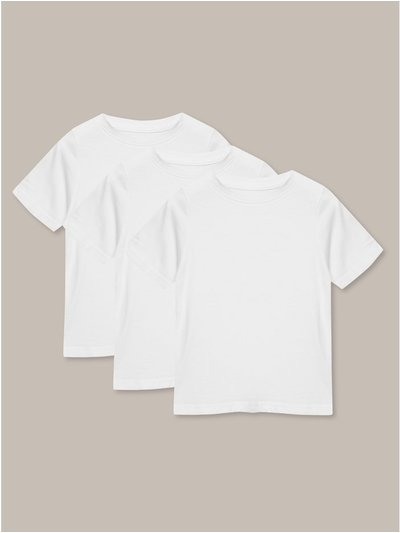 Short sleeve white t-shirts three pack (3-12yrs)