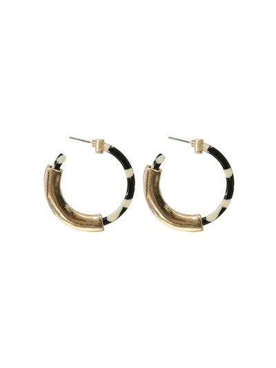 Muse patterned hoop earrings
