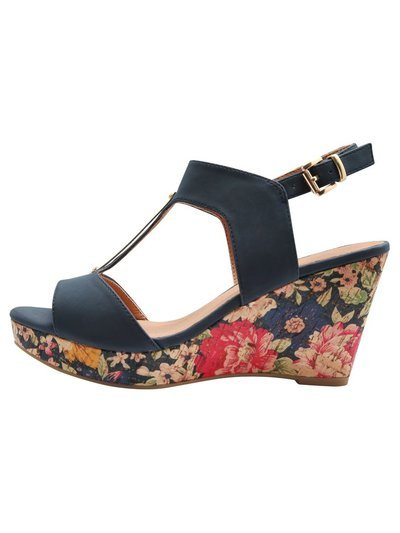 Splendid multi strap covered wedge