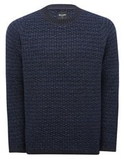 Only and Sons textured knit crew neck jumper