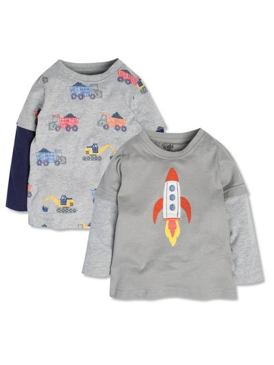 Truck and rocket tees two pack (9mths-5yrs)