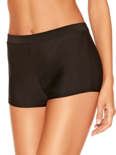 High waisted tummy control swim shorts