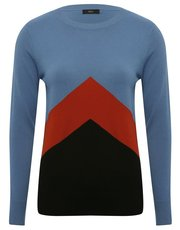 Chevron colourblock jumper