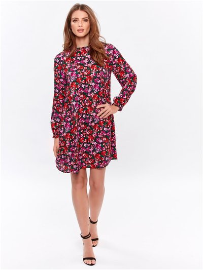 Petite high neck floral dress