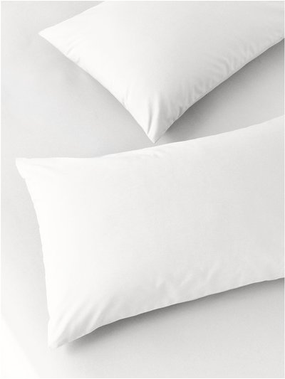 Pure cotton white pillowcases two pack