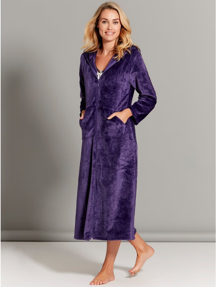 Floral Zip Front Dressing Gown  f126e27f21