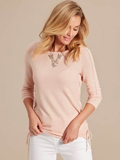 Ribbed lace up jumper