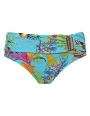 Hawaiian jungle print roll over bikini bottoms
