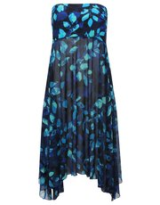 Blue leaves two in one beach dress