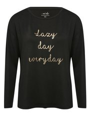 Lazy day slogan pyjama top