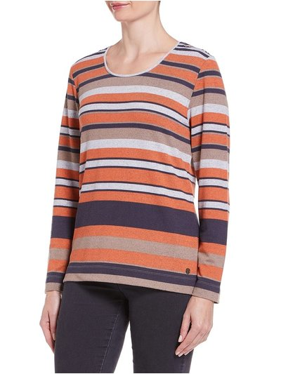 TIGI crew neck stripe top